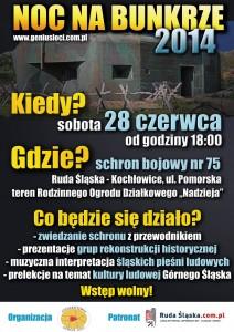 Noc na bunkrze 2014 -plakat -small