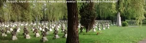 Warta stanie na cmentarzu wojskowym w Katowicach